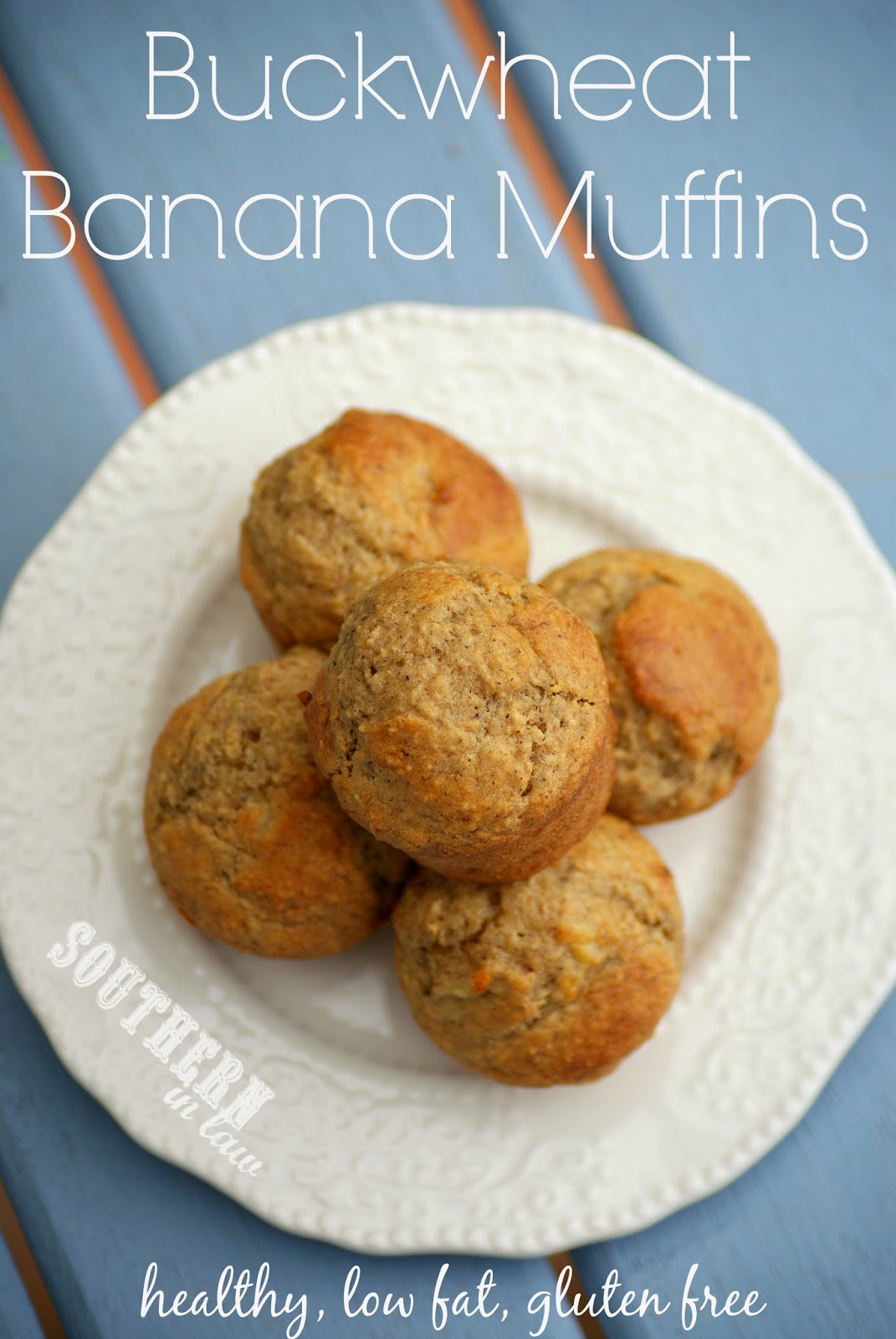 Gluten Free Buckwheat Banana Muffins - healthy, low fat, low sugar, sugar free, clean eating friendly