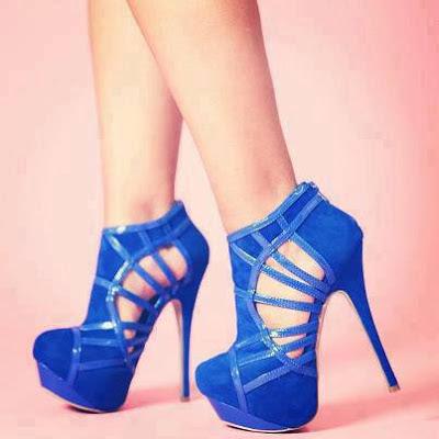 zapatos de mujer azules
