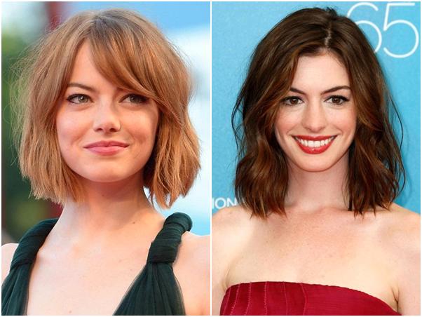 Bob - Novo Corte de Cabelo Cut Long Bob Emma Stone Anne Hathaway