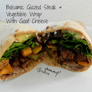 Balsamic Glazed Steak & Veggie Wrap