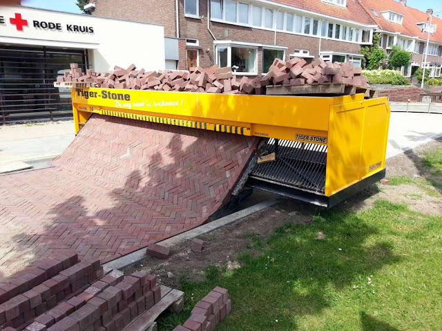 Brick Path Laying Machine