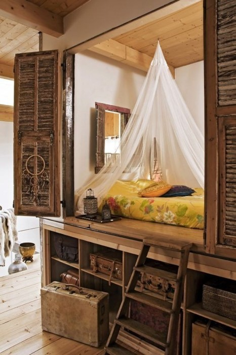 Bohemian Bedroom Inspiration Cabin Bed