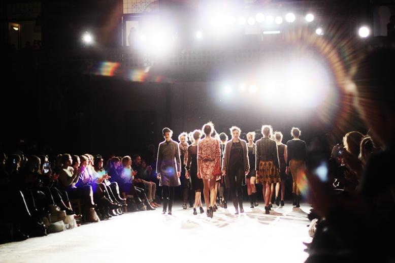la dolce fashion vita, models, models catwalk bohkeh lights, models walking on a catwalk with bokeh lights, creative fashion picture bokeh