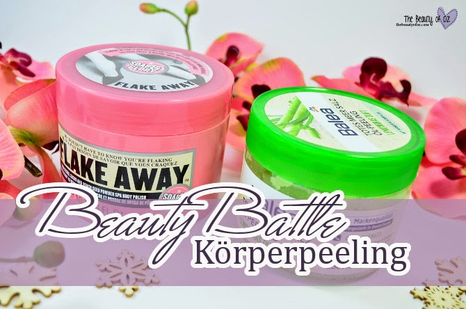 Beauty Battle Körperpeeling Soap & Glory FLAKE AWAY vs Balea TOTES MEER SALZ ÖL-PEELING