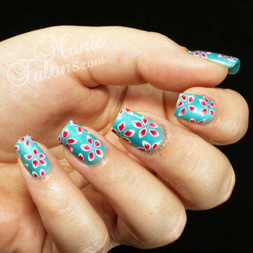 Tropical Flowers Manicure, Revel Nail Gel Polish Kodie, Couture Gel Polish