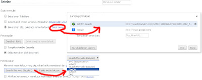 Menghilangkan babylon di google chrome