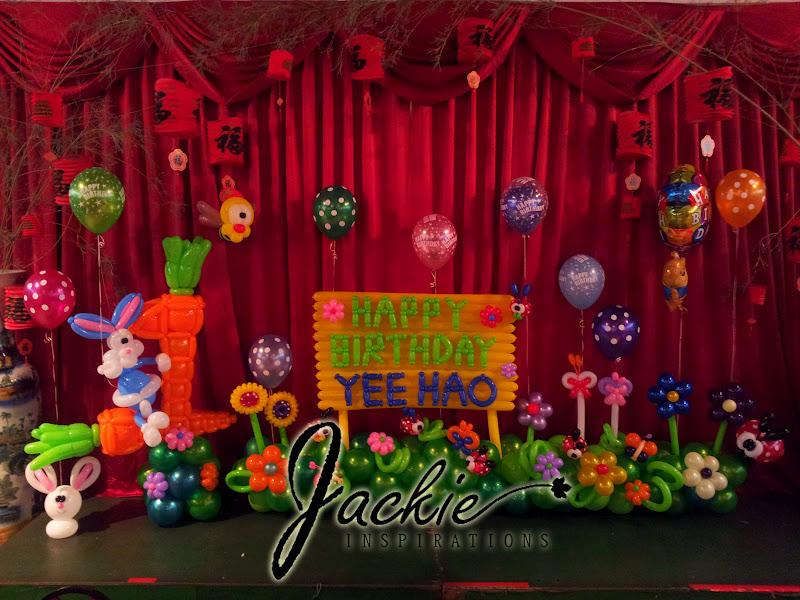 Happy First Birthday Balloon Decoration