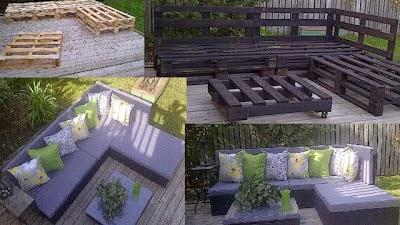 Columpios for Muebles palets jardin exterior