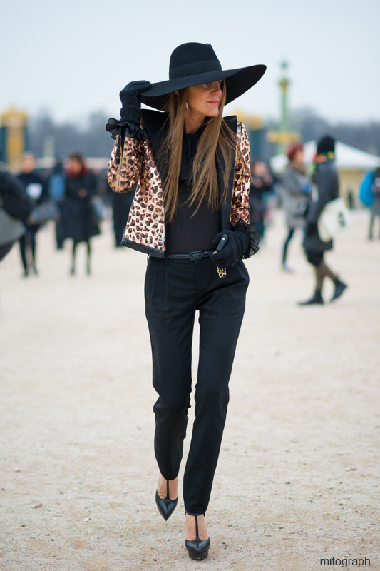 mitograph Anna Dello Russo Wearing Saint Laurent Paris Paris Fashion Week 2013 2014 Fall Winter PFW Street Style Shimpei Mito