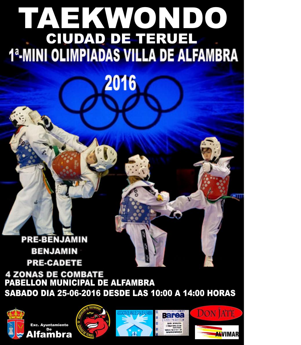 I-MINI ALIMPIADAS VILLA DE ALFAMBRA 25-6-2016
