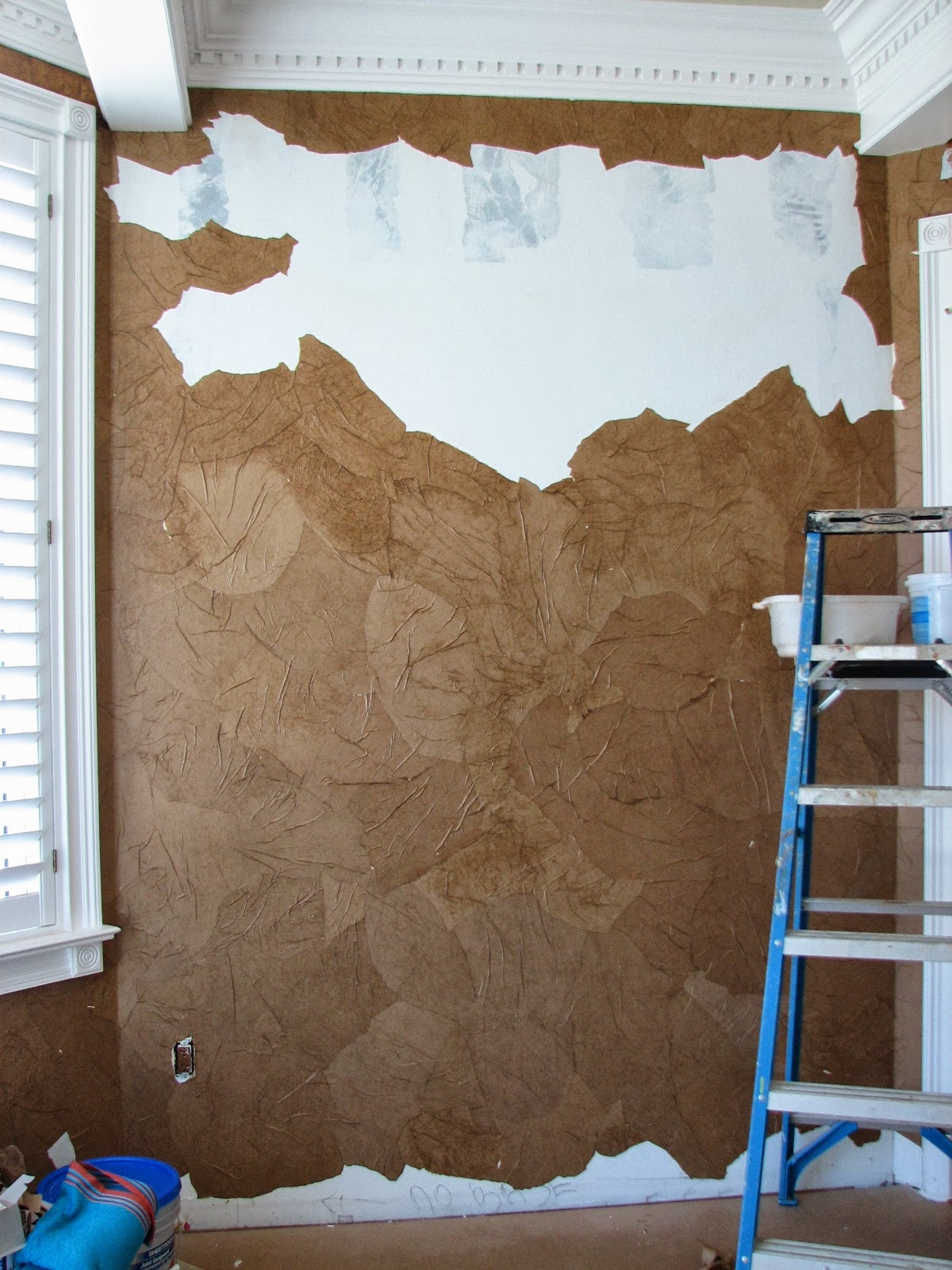 Be love from the grocery store to sophisticated wall finish who knew - Brown paper bag walls ...