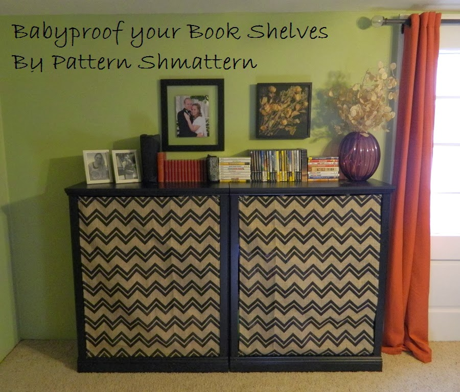 baby proofing a book shelf tutorial - Child Proof Bookshelves