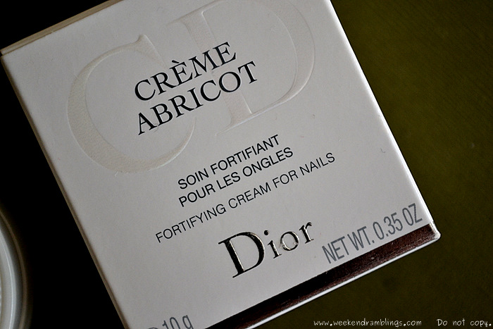 Dior Creme Abricot Fortifying Cream Nails Cuticle Makeup Beauty Skincare Blog Reviews How to Use Ingredients