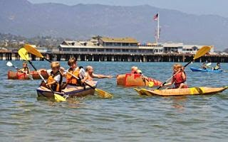 Kardboard Kayak Race, Santa Barbara. Build a kayak, race a kayak