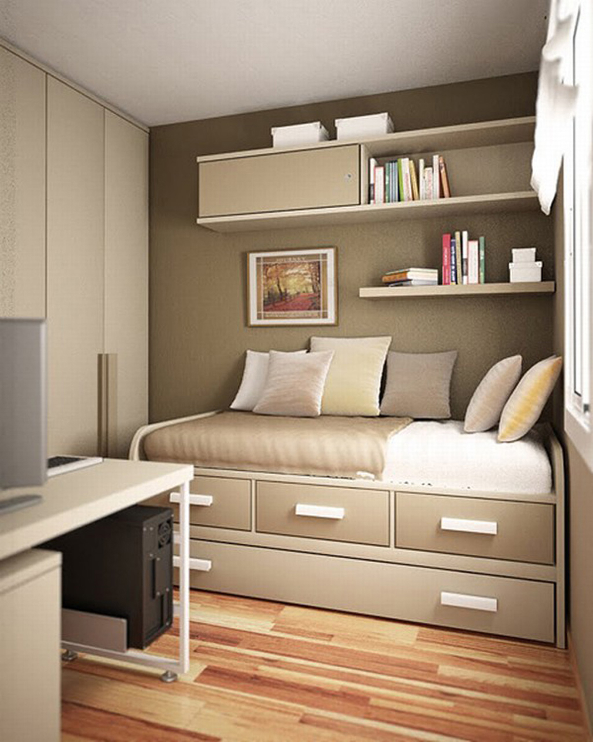 ... For Small Contemporary Bedroom Ideas. In The End This Is Your Bedroom  And You Are The One Who Has To Live In It, So You May As Well Love It. Good  Luck!