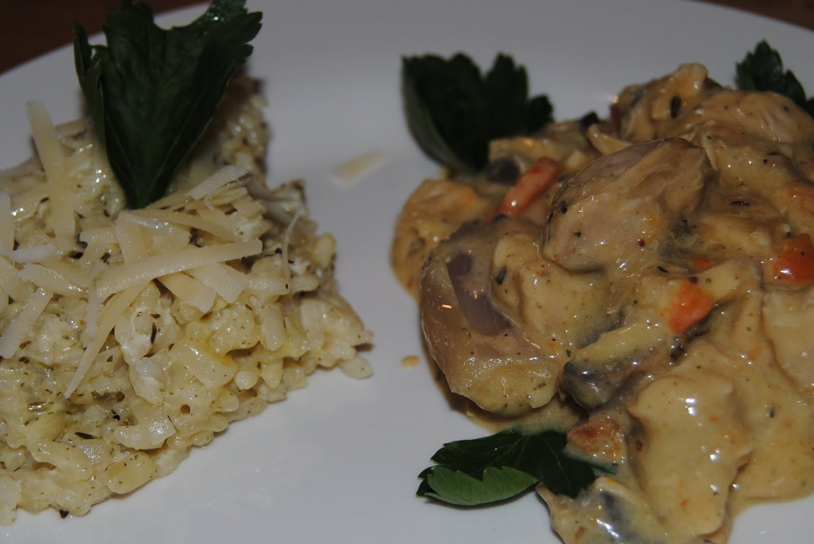 ... Old-fashioned Chicken Fricassée with Wine-flavored Cream Sauce