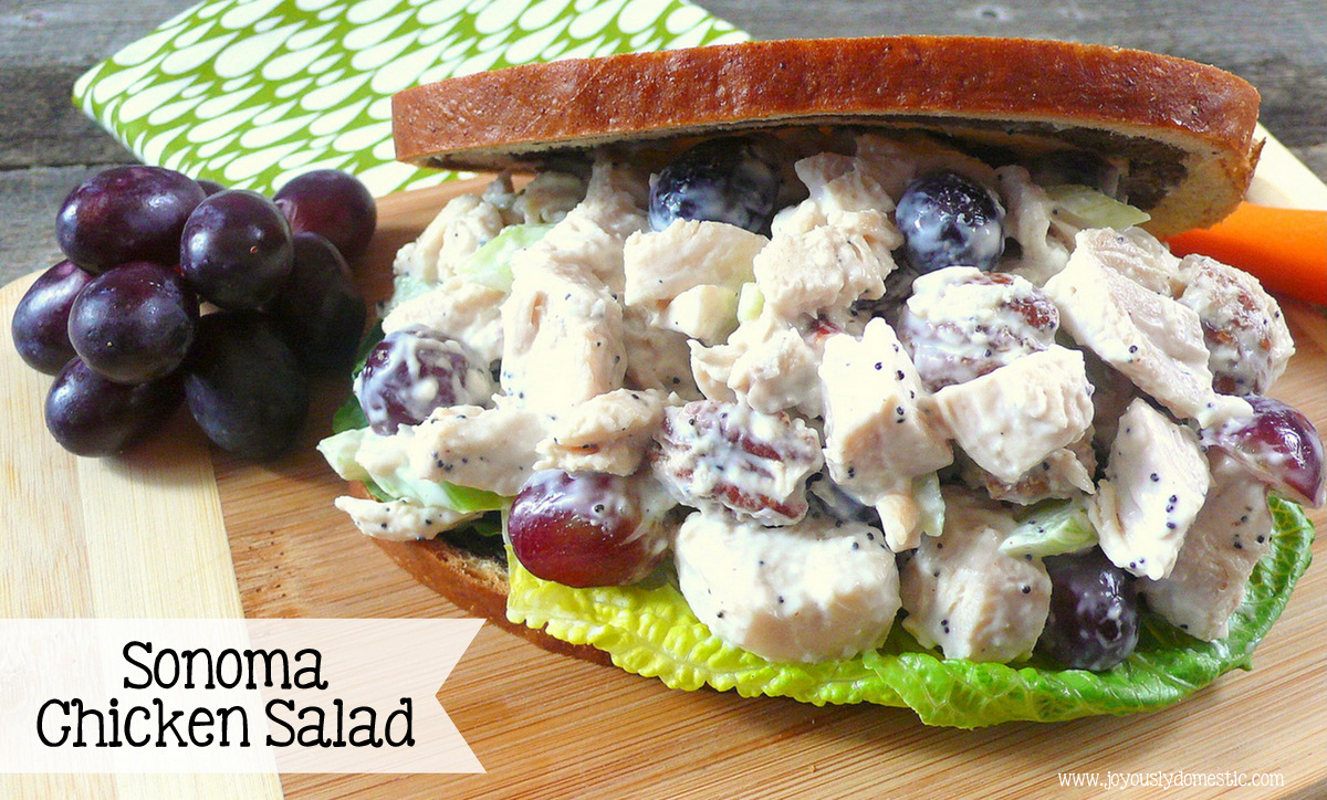 Joyously Domestic: Sonoma Chicken Salad {A Whole Foods Copycat Recipe}