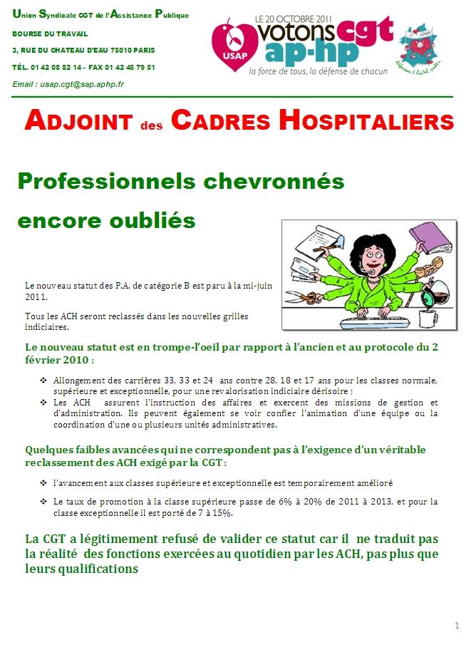 usap cgt tract sp 233 cifique a c h adjoint des cadres hospitaliers