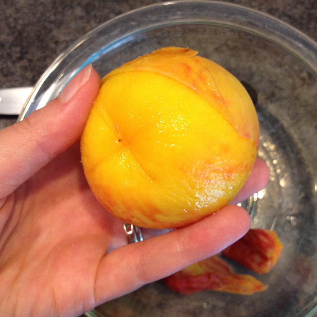 how to take skin off peaches