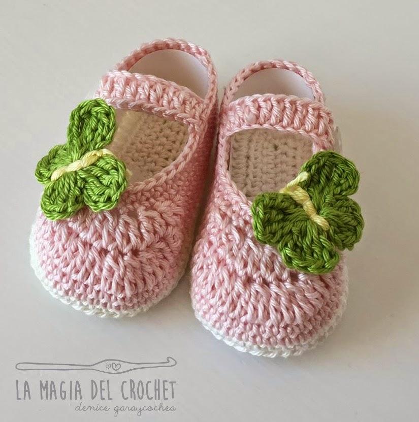 Crochet Tutorial Zapatitos Bebe Escarpines : La Magia del Crochet: ZAPATITOS PARA BEBE DE 6 A 9 MESES