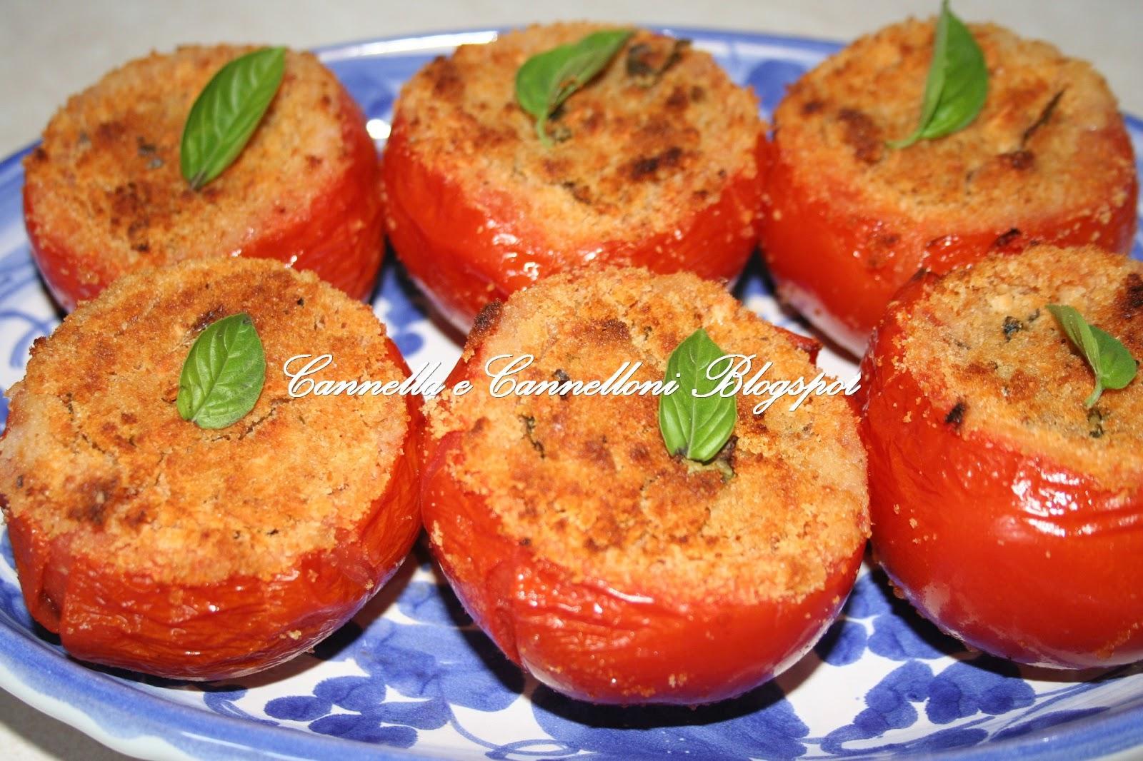 Cannella e Cannelloni: Pomodori ripieni gratinati al forno