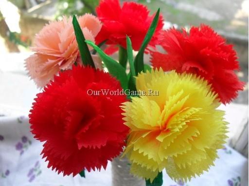 Цветы на 9 мая своими руками