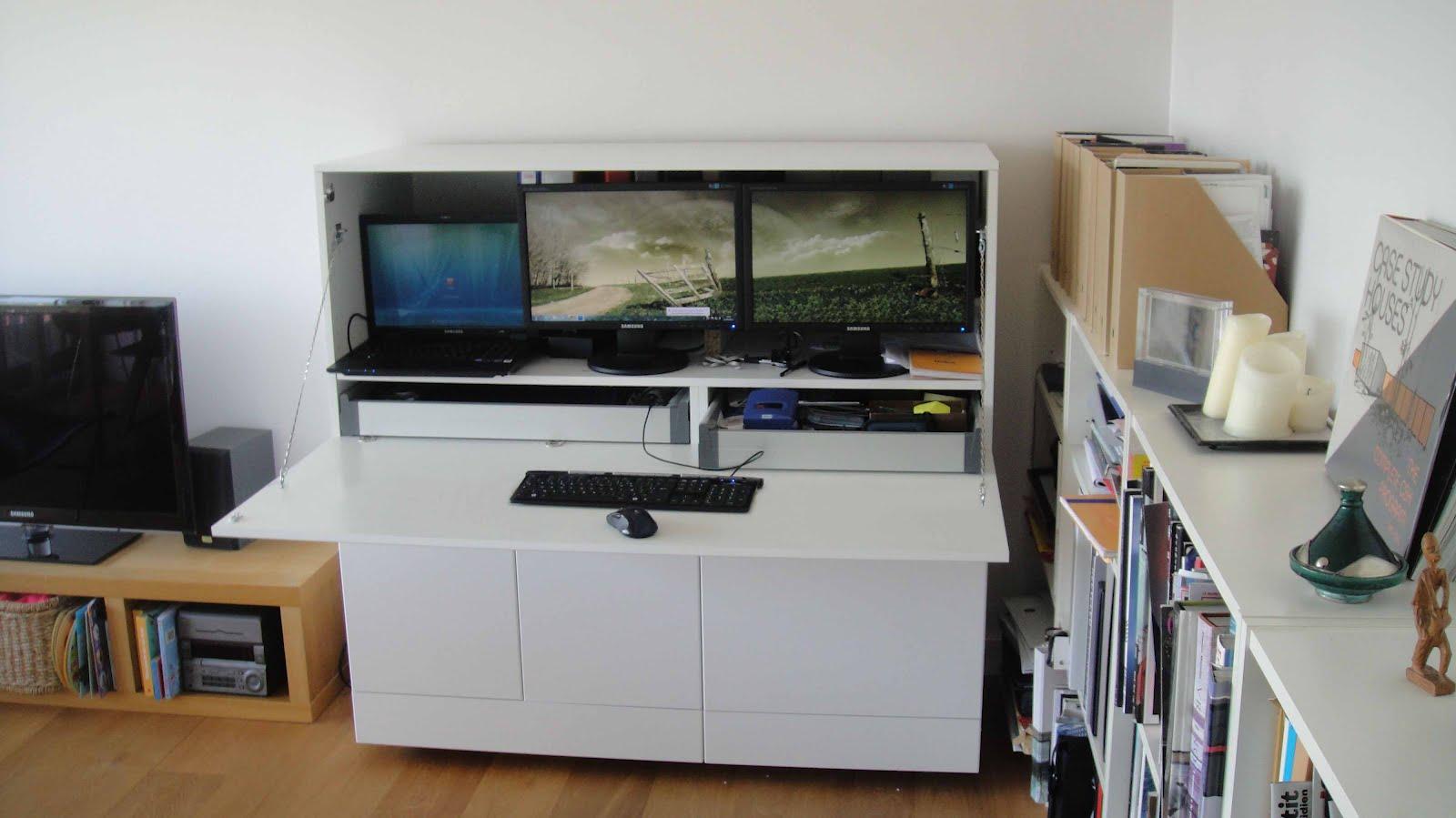 Ikea hack mueble escritorio besta for Escritorios ikea