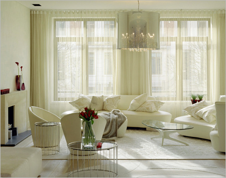 Living room curtain design ideas dream house experience for White curtains design ideas