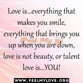 Love is...everything that makes you smile