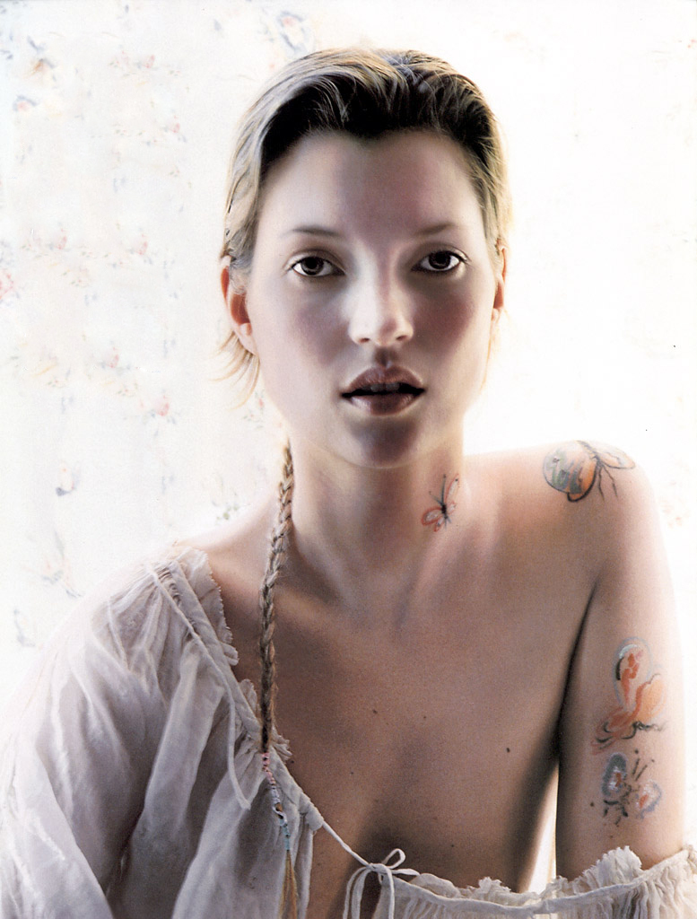 Kate Moss in Freedom Child / Vogue UK February 2002 (photography: Corinne Day)