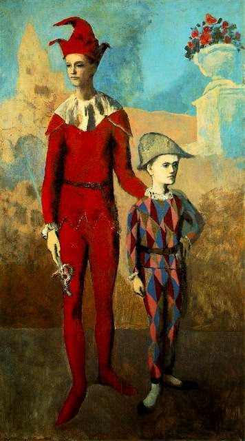 Пабло Пикассо Акробат и молодой Арлекин.