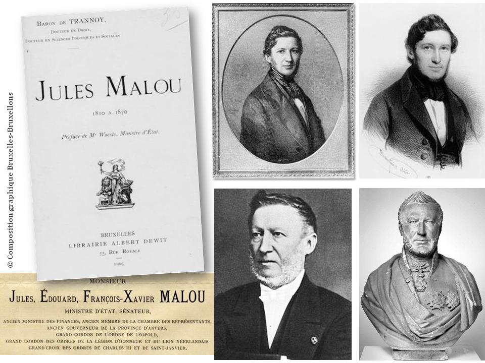 """Château Malou - Woluwe-Saint-Lambert - Une histoire tumultueuse - Du haut de ces fenêtres, deux siècles vous contemplent -  Jules Malou (1810 - 1886) - """"Sacré bonhomme ce Jules"""" - Bruxelles-Bruxellons"""