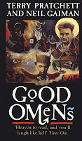 Good Omens book cover by Terry Pratchett and Neil Gaiman