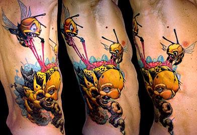 Fotos tatuagem de abelha - tatuagens animais