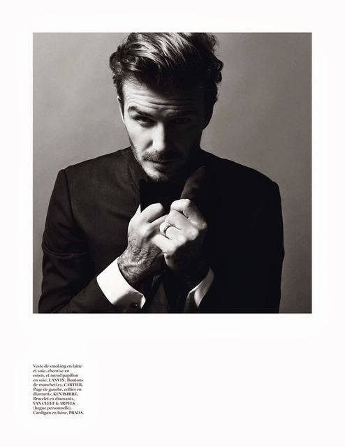 David Beckham in Vogue Paris