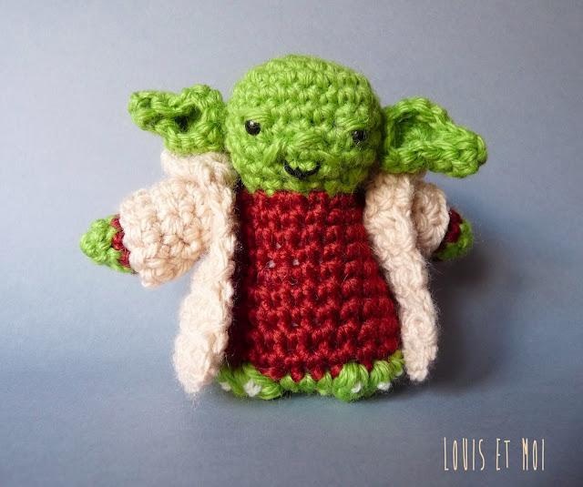 Amigurumi Maestro Yoda : Louis et Moi (cosen y hacen crochet): Crochetear tu debes