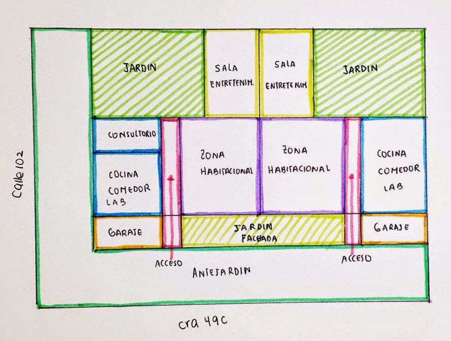 planos de casas con zonificacion