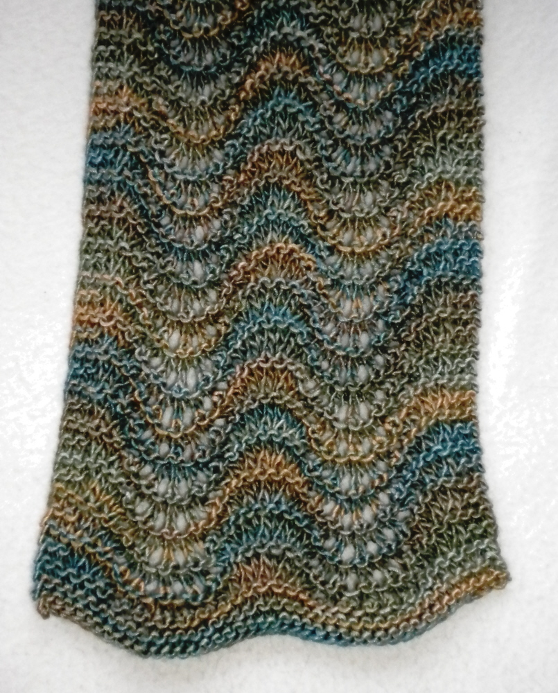 Feather Knitting Pattern : Sherris Jubilee: Feather and Fan Scarf I Finished