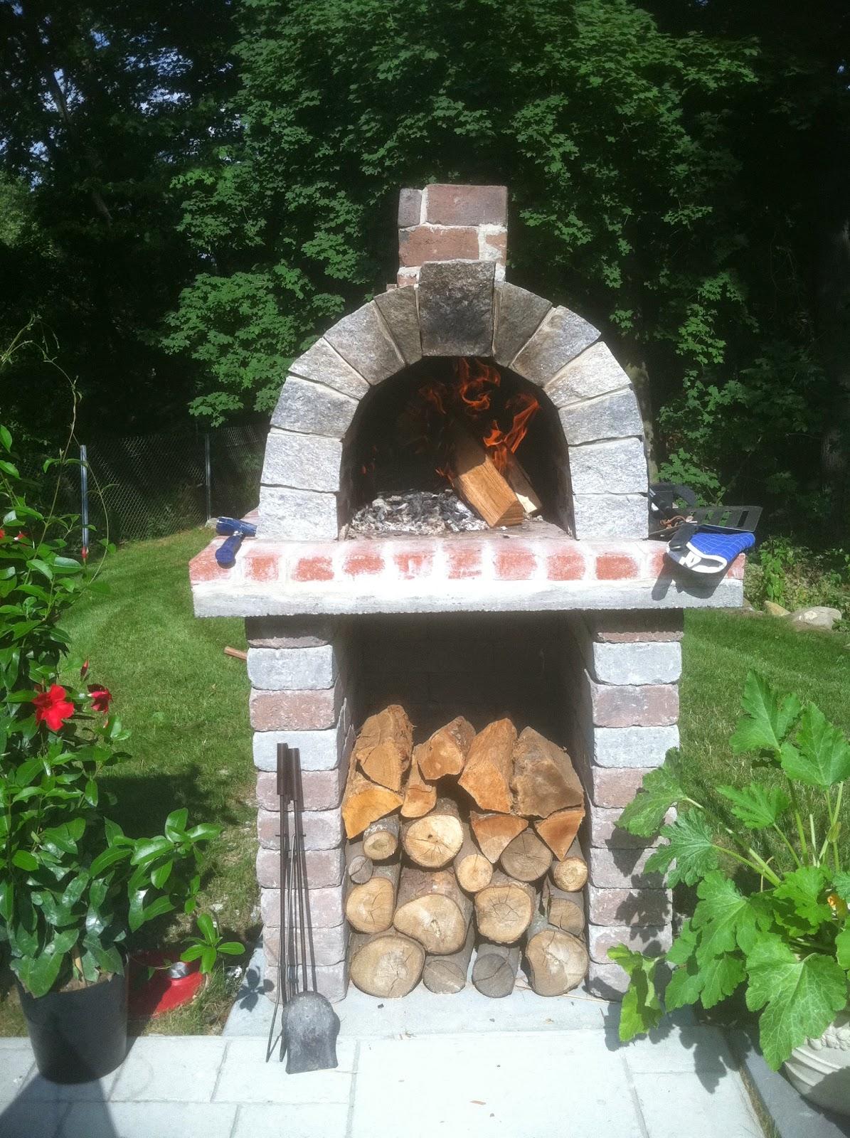 the schelzi family wood fired brick pizza oven in massachusetts