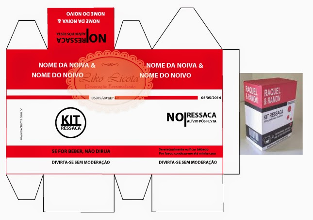caixa personalizada kit ressaca