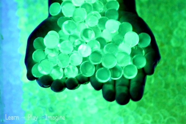 Learn how to make glowing water beads.  Your kids will be amazed, trust me.