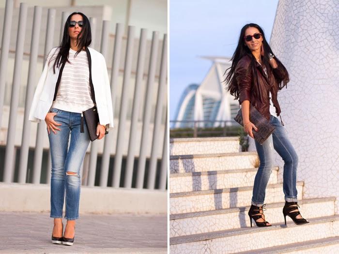 Resumen outfits Zapatos bicolor y Chaqueta perfecto oxblood de Muubaa