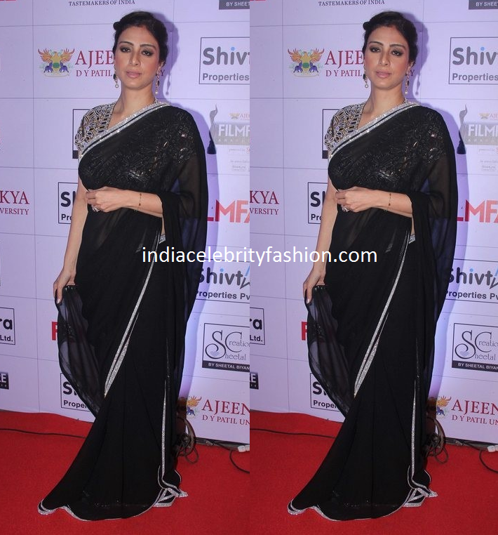 Tabu in AJSK Black Saree