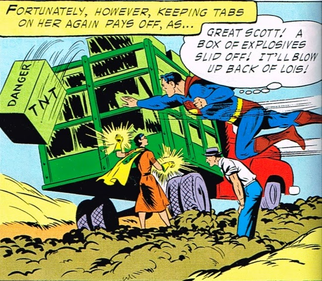 Superman's Girlfriend Lois Lane in The Forbidden Box from Krypton: Back of Lois TNT