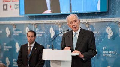 Former Israeli President Peres urged Ukrainians to dream big and build a state based on the national idea