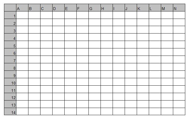 Battleship Game Board Template