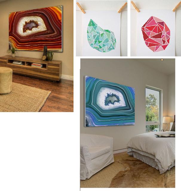 quadros-coloridos-decoração-pedra-agata-decoração-decorar-azul-vermelho-sala-casa-decorar-decoração