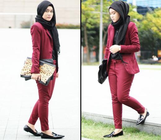 Style Hijab Dengan Celana Jeans Untuk Remaja