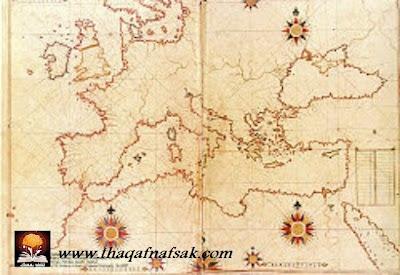 خرائط بيري التي أذهلت العلماء ! 250px-Piri_Reis_map_