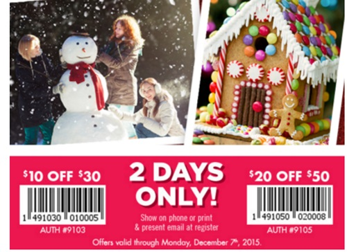 Bath & Body Works $10 Off $30 + $20 Off $50 Coupons